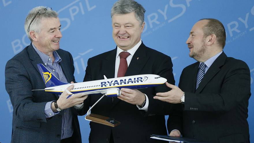 Ryanair открывает полёты на Украину