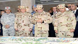 شاهد: السيسي بالزي العسكري في سيناء يتحدث عن نصر قريب