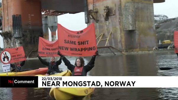 Greenpeace contro le trivellazioni di Statoil nell'Artico