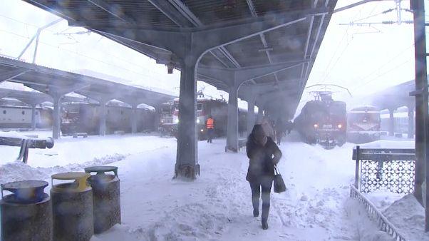 Il neige (beaucoup) en Roumanie