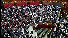 Primera sesión en el Parlamento italiano
