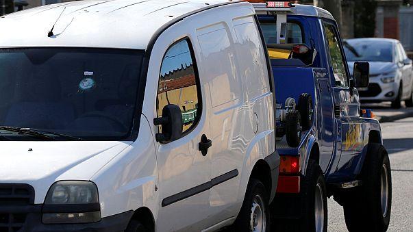 O carro que alegadamente o emigrante português conduzia quando foi atacado