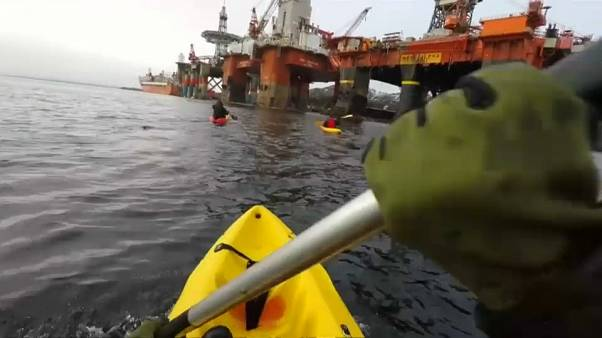 Action de Greenpeace en Norvège