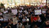 Protesto de estudantes dos EUA contra lei do controlo de armas