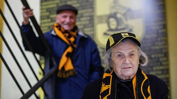 Meet the football fanatic, 82, at the heart of her team's birthday celebrations