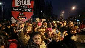 Huge protests in Poland over near-total abortion ban