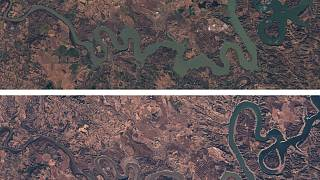 Space pictures show how Spanish reservoirs are shrinking