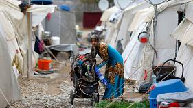 A Syrian refugee mother in Nizip camp, in Turkey's Gaziantep province
