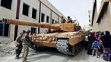 تانک های ترکیه در عفرین سوریه