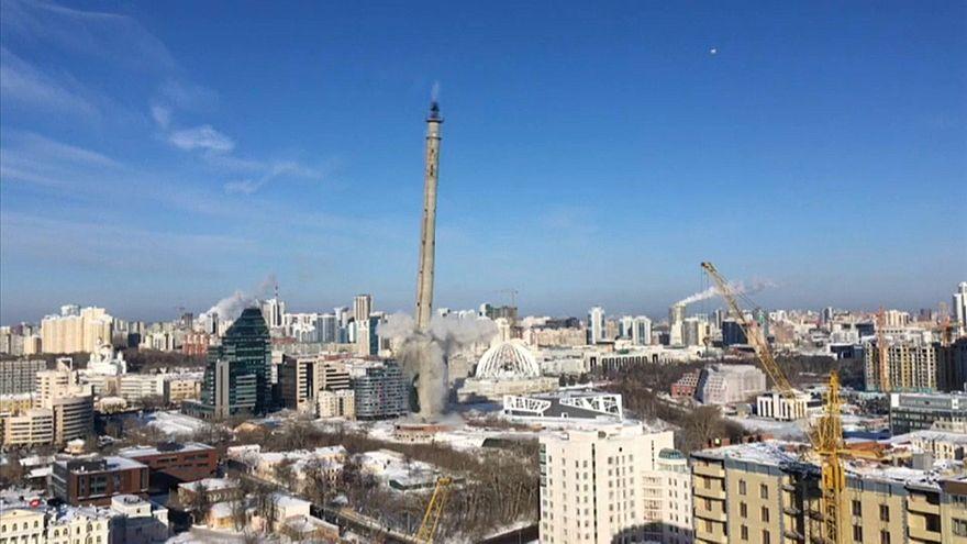 En Russie, une tour de l'ère soviétique démolie sans avoir jamais servi
