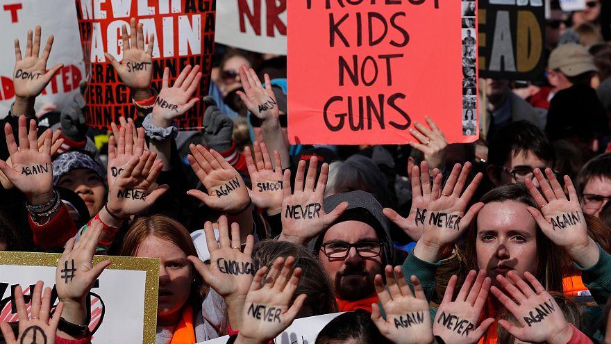 Un momento delle manifestazioni a Washington