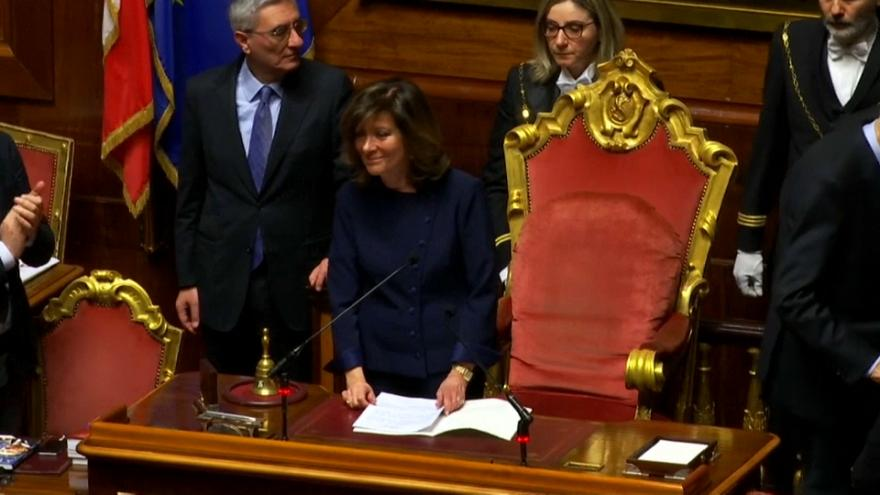 Forza Italia's Elisabetta Castelli will lead Italy's lower house