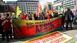 تظاهرات در فرانکفورت آلمان برای حمایت از کردهای سوریه