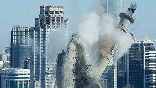 مرتفع ترین برج نیمه تمام جهان تخریب شد