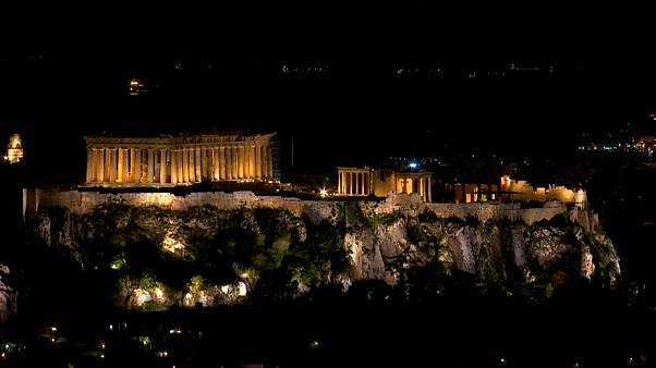 Lights turned out in Athens for the 11th annual Earth Hour