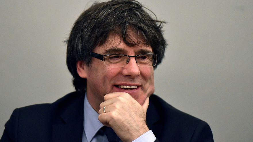 Katalan lider Belçika'ya döndü