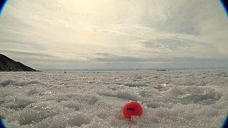 Гольф на льду Байкала