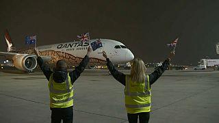 Termina con éxito el primer vuelo directo entre Australia y el Reino Unido