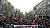 Манифестация в поддержку Пучдемона в Барселоне