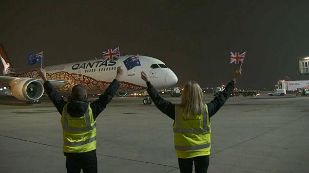 Dünyanın en uzun uçuşu Avustralya - İngiltere arasında yapıldı