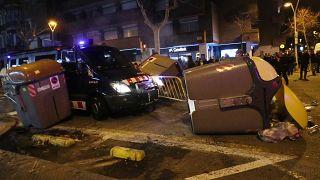 Tüntetés és dulakodás Barcelonában