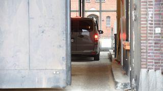 Carles Puigdemont arrives at Neumuenster prison