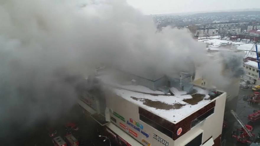 Dutzende Tote bei Feuer in russischem Einkaufszentrum