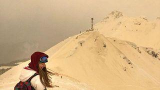 'Orange snow' transforms ski slopes in Eastern Europe into Mars-like landscapes