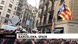 Espagne : manifestation houleuse à Barcelone après l'arrestation de Puigdemont