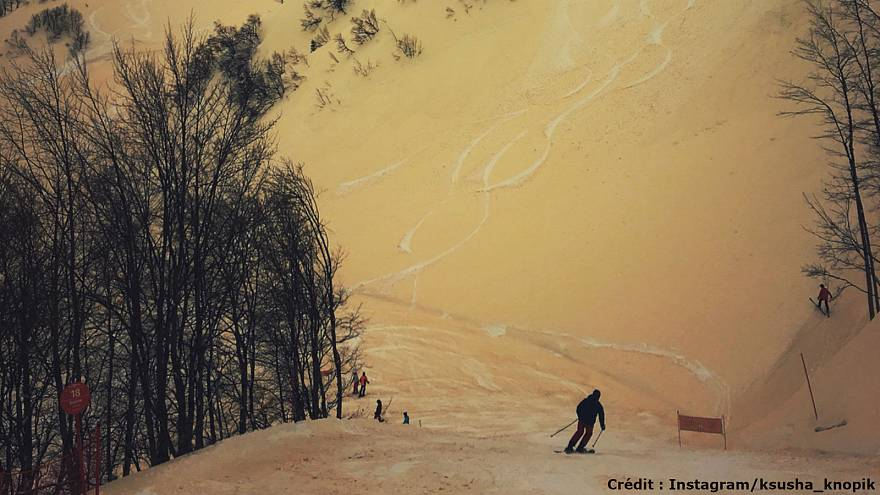 "De la ""neige orange"" en Russie"
