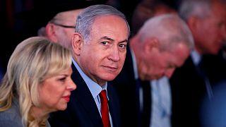 Benjámin Netanjahu, izraeli miniszterelnök és felesége, Sára