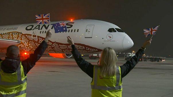 Erster Nonstop-Linienflug: Australien und Europa in 17 Stunden