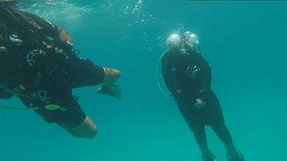 غواصان في البحر الأحمر بالسعودية