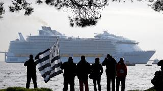 "Le ""Symphony of the Seas"" a quitté Saint-Nazaire"