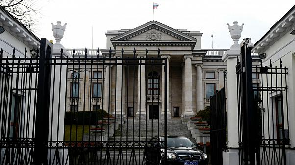 Russian embassy building in Warsaw