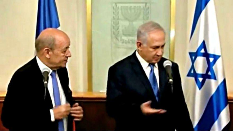 نتانیاهو در دیدار با وزیر امورخارجه فرانسه: باید در مقابل ایران ایستاد