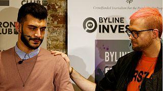 Shahni Sanni com Christopher Wylie, o delator da Cambridge Analytica