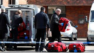 Police prepare equipment amid inspection for chemical weapons in Salisbury