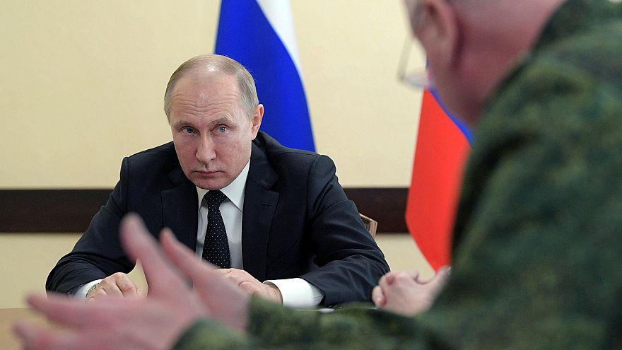 Russlands Präsident Wladimir Putin in Kemerowo