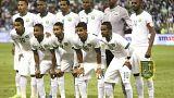 صورة  للاعبي المنتخب السعودي قبل مباراة في الرياض