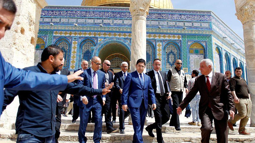 وزير الخارجية المغربي ناصر بوريطة في المسجد الأقصى