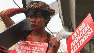 Chemin de croix à Manille