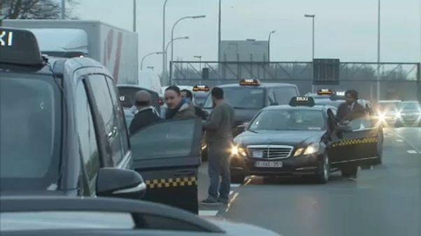 Taxi-Demo in Brüssel legt Verkehr lahm