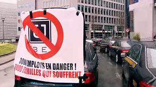"Taxistas belgas protestam contra projeto que ""favorece"" Uber"