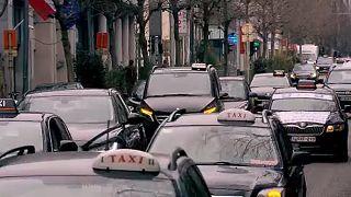 Таксисты Брюсселя протестуют против реформы