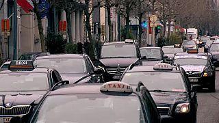 Manifestation des chauffeurs de taxi à Bruxelles