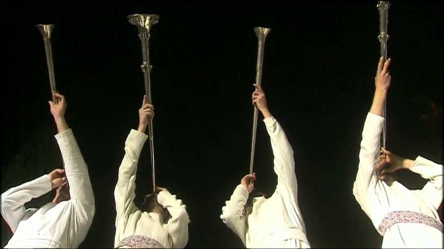 مجموعة من اليهود أثناء الاحتفال بالقدس