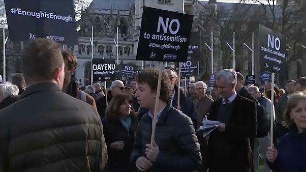 Protesto contra alegados atos antissemitas entre os Trabalhistas britânicos