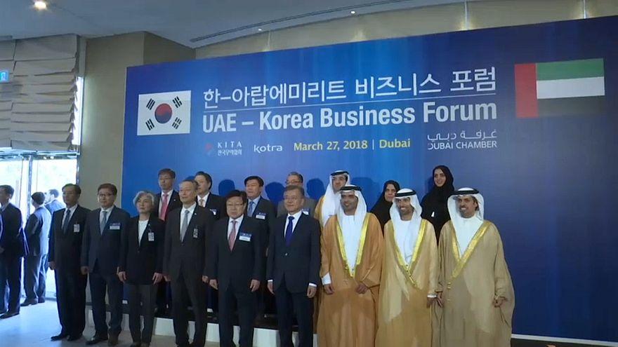 الرئيس الكوري الجنوبي في دبي