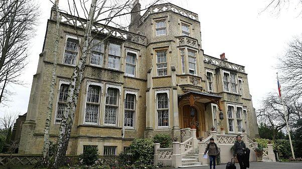 Russia's Embassy is seen in London